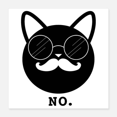 Swag Hipster Cat No (affiche) - Poster 40 x 40 cm