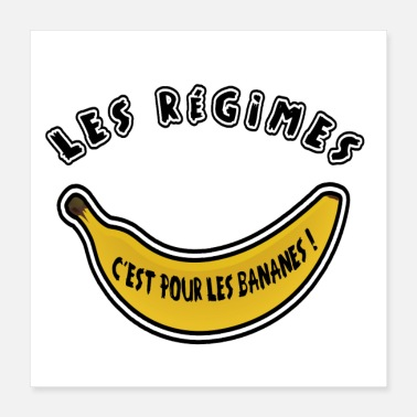 Vekt REGISTER, DET ER FOR BANANENE! - Poster 40x40 cm