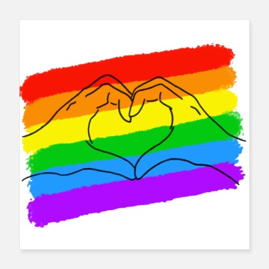 Gay Pride Pride LGBTQIA is love heart - Poster