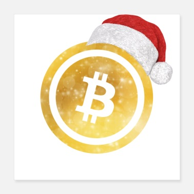 Cash bitcoin christmas gold - Poster 40x40 cm