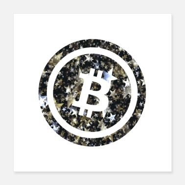 Start Bitcoin Star - Poster 40 x 40 cm