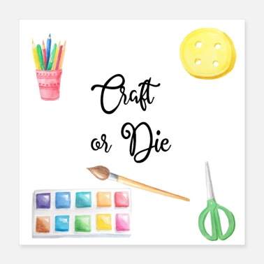 Puzzle Craft or Die - Poster 40x40 cm