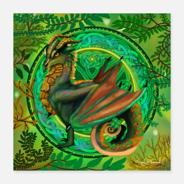 Dragon Head forest dragon poster - Poster