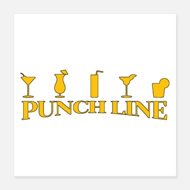 Punch PUNCH LINE (COCKTAIL, RUM, ALCOHOL) - Woordspellen - Poster