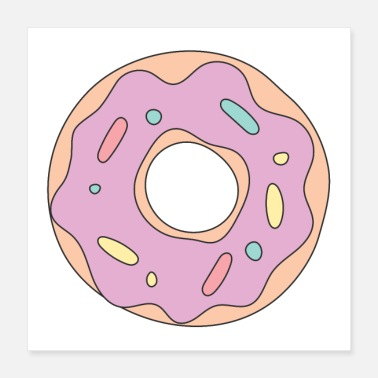 Frost pink frosted doughnut - Poster
