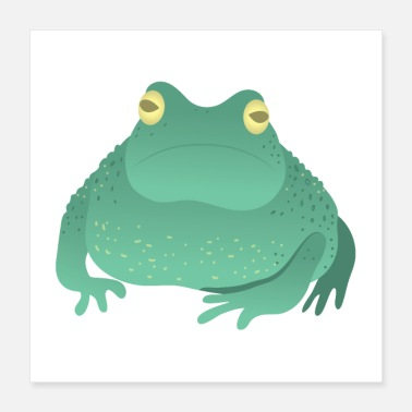 Unhappy FAT green unhappy toad - Poster