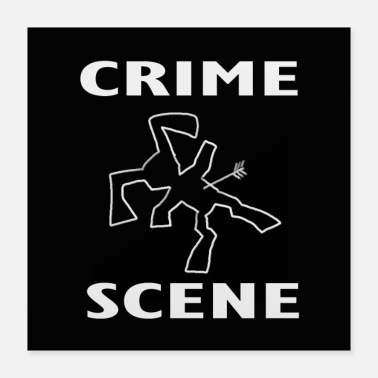 Badinkbox crime scene rabbit by BADINKBOX archery police - Poster