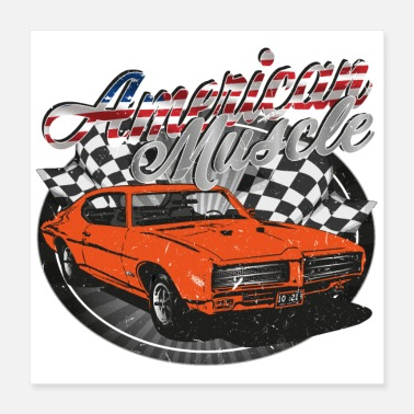 American American muscle car - Poster
