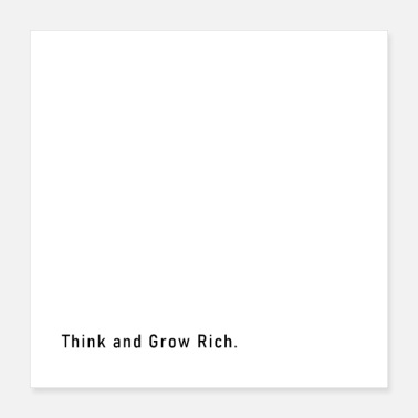Wealthy think and grow rich - Poster