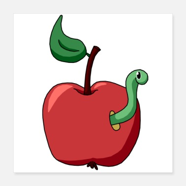 Apple and worm - Poster
