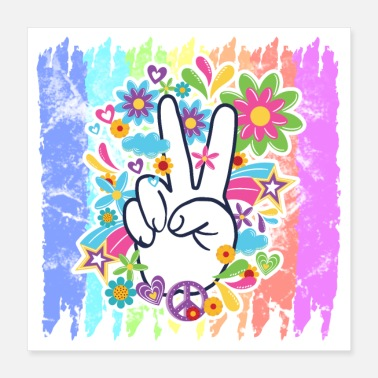 Humoristiska Tale Hippie Peace Rainbow | Hippies 60-tal presenter - Poster
