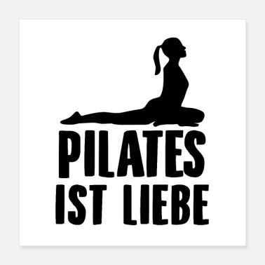 Pilates Pilates saying | Training yoga beginners gifts - Poster