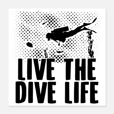 Scuba Dykkere | Scuba Dive Diving Instructor Gaver - Poster