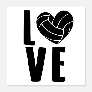 Volleyballs Volleyball love Volleyball player gifts - Poster