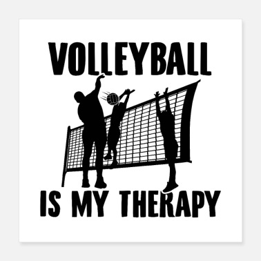 Volleyballs Volleyball Sayings Volleyball hobby gifts - Poster