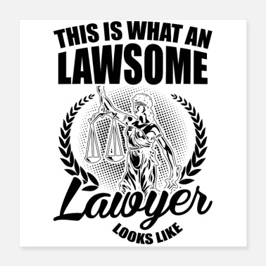 Lawyers Lawyers Profession | Lawyer lawyer law BGB gifts - Poster