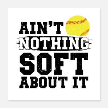 Softball Player Softball | Pitcher player coach team gifts - Poster