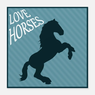 Baby Horse horses riding equestrian pony western - Poster
