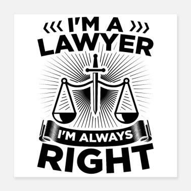 Advocate Attorney at Law | Lawyers lawyer gift idea - Poster