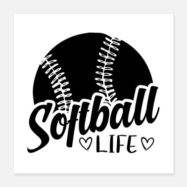 Softball Helmet Softball player | Sport softball team coach gift - Poster