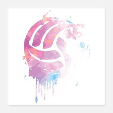 Volleyball Team Playing volleyball | Volleyball team sport gift - Poster