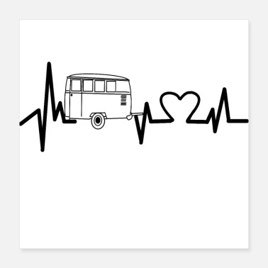 Heart Rate Camping heartbeat EKG pulse pulse rate heart vacation - Poster
