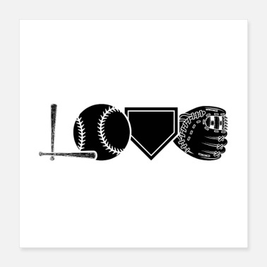 Baseball Bat Baseball player | Baseball bat team gifts - Poster