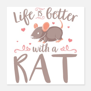 Rodent House rats | Rat pets rodent gift idea - Poster