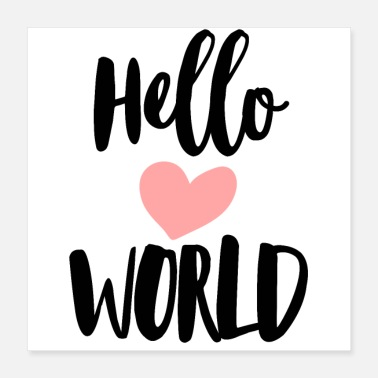 Hallo Hello World - Poster