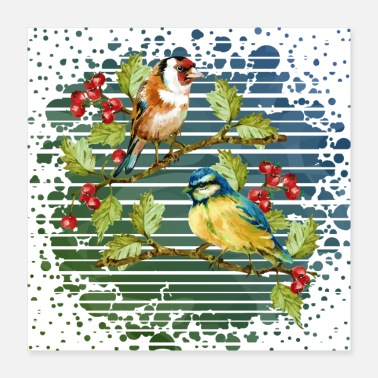 Children Colorful birds - Poster
