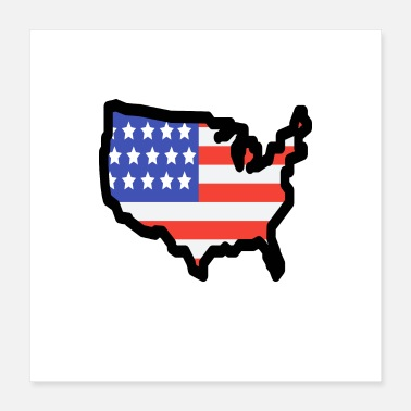 State United States - Poster 40x40 cm