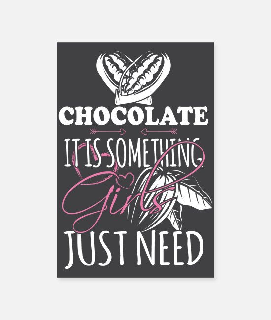 Coffee Posters - Chocolates are just what women need - Posters white