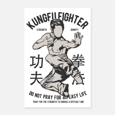 Martial KUNG FU FIGHTER - Martial Arts Gifts Shirts - Poster