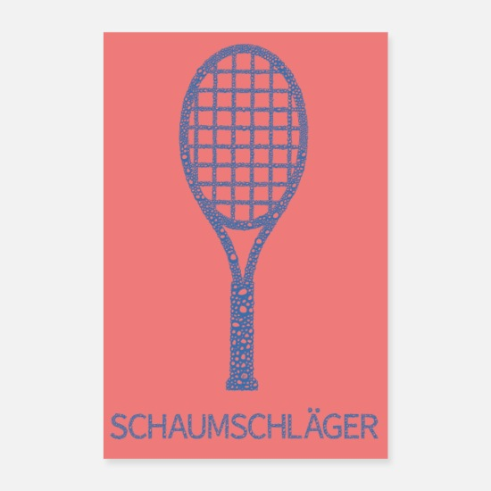 Tennis Player Posters - Foam bat ... Poster - Posters white