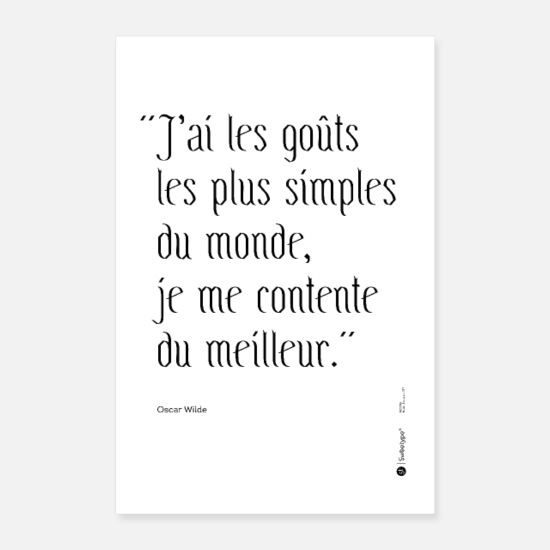 Citations Posters - Citation ironique - Oscar Wilde - Posters blanc