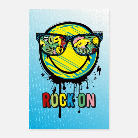 Rock Posters - SmileyWorld Rock On - Posters white