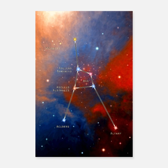 Constellation Posters - cancer - Posters white