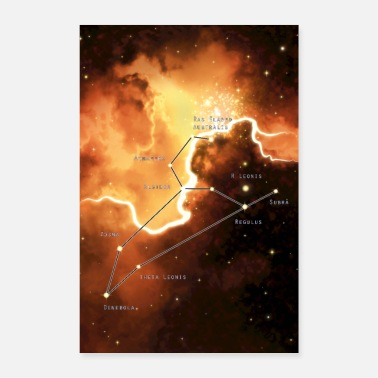 Constellation lion - Poster