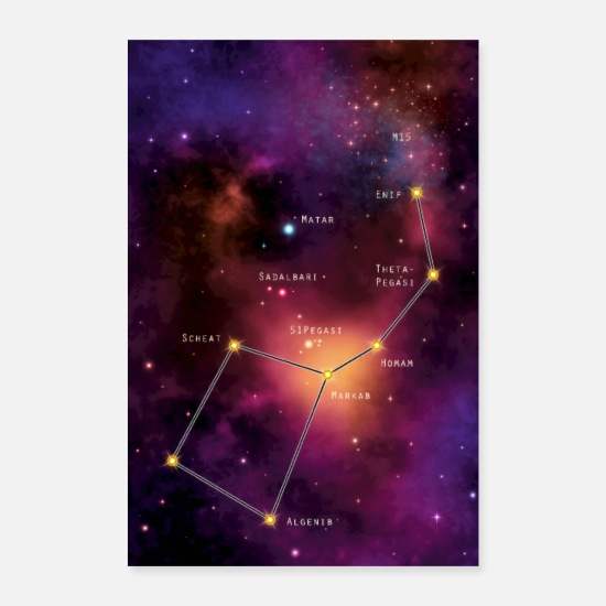 Constellation Posters - Pegasus - Posters white