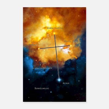 Konstellation Cross of the South - Poster