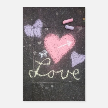 Chalk love chalk picture - Poster