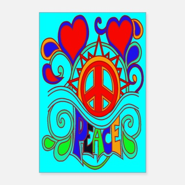 Peace Flower Power - Poster