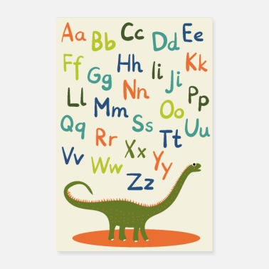 Back To School Dino ABC poster boys back to school - Poster