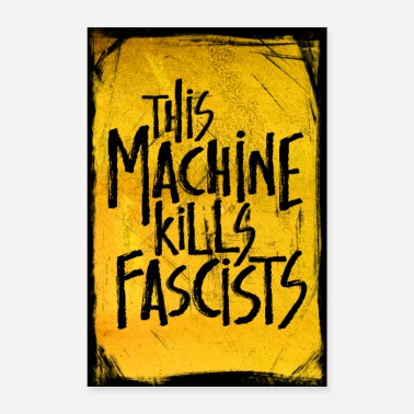 Country Cette machine tue les fascistes affiche - Poster