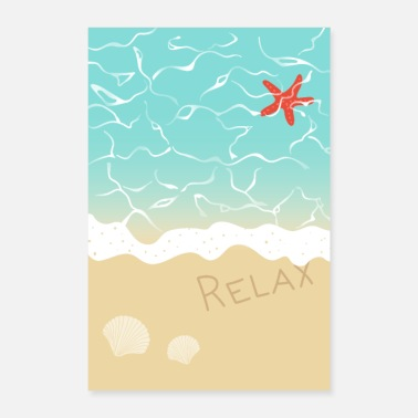 Beach Relax on the beach - Poster