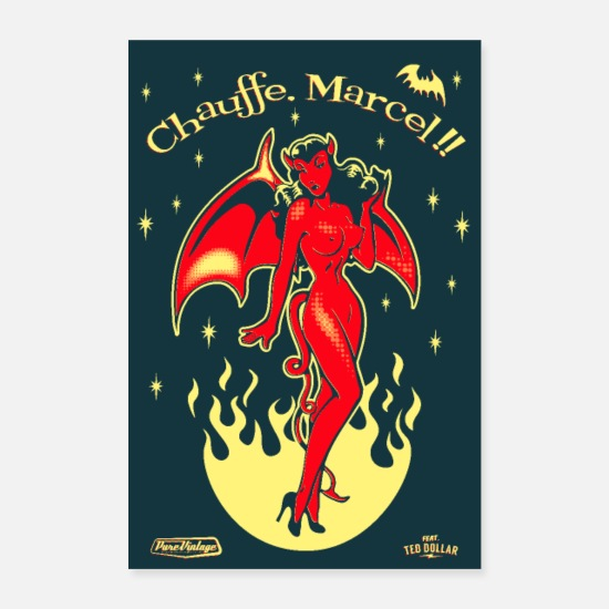 Vintage Posters - Chauffe Marcel - Posters blanc
