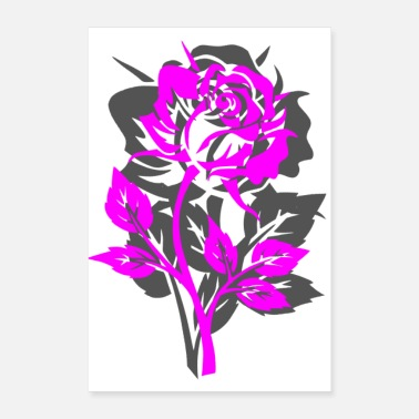 ROSE PINK PURPLE - Poster