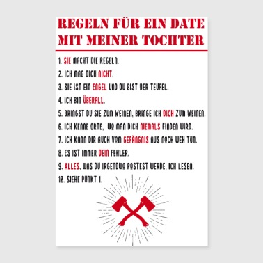 fix date daughter poster - Poster 24 x 35 (60x90 cm)