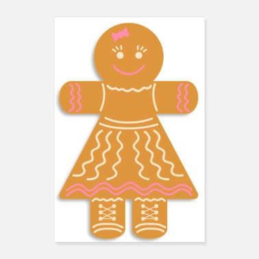 Advent Gingerbread figure - Poster 24 x 35 (60x90 cm)
