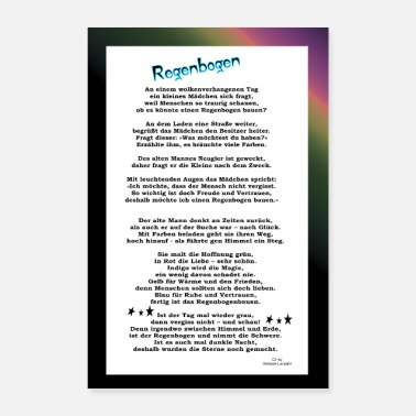Courage Poster Rainbow - Poetry. Courage, hope, - Poster